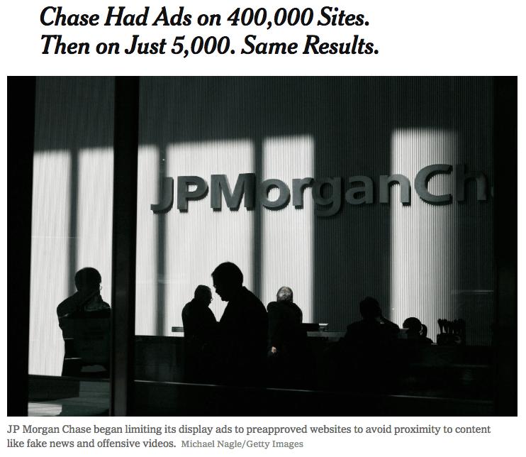disadvantages of programmatic advertising graphic jpmorgan headline
